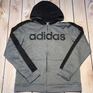 Adidas boy's lightweight zip hoodie